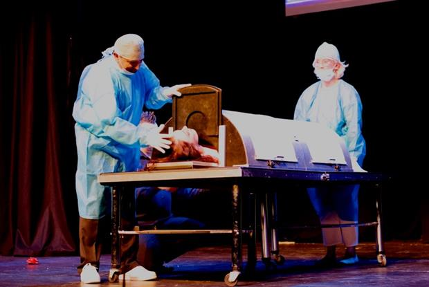 Magic: Dr Ajay Vora performs in retirement show