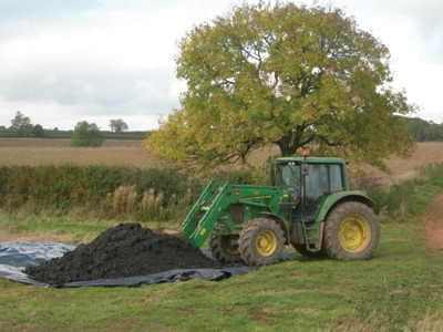 MBT plant's compost-like output is used for land restoration
