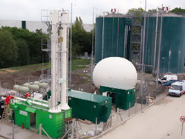 The equipment that cleans biogas at Thames Water's Didcot sewage works so it can be injected into the gas network (courtesty of Thames Water)