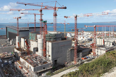 EDF and Areva's joint nuclear power plant design, Flamanville, France