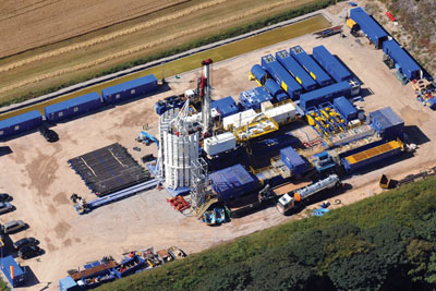 Cuadrilla's first UK exploratory shale gas well at its Preese Hall site near Blackpool (credit: Cuadrilla Resources)