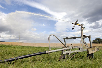 Farm irrigation schemes in Scotland could be affected by a review of abstraction licences. Credit: SEPA.