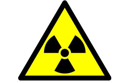 Radioactive waste sign