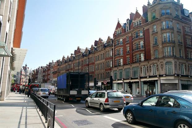 A busy street in London