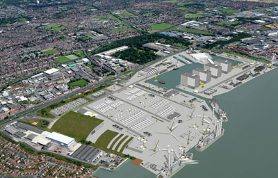 An artist's impression of Hull's revamped port
