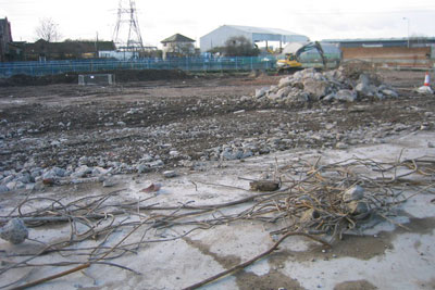 Clearing for the Olympic Aquatic Centre, courtesy of Rachel Bowles