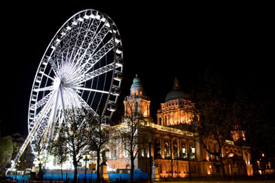 Belfast wheel by the city hall, Belfast