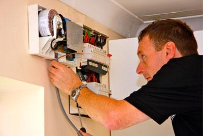 VPhase voltage optimiser being installed