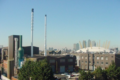 The John Knight rendering plant in Silvertown, Newham