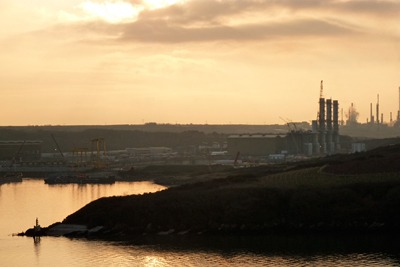 RWE Npower's gas-fired power station under construction at Pembroke
