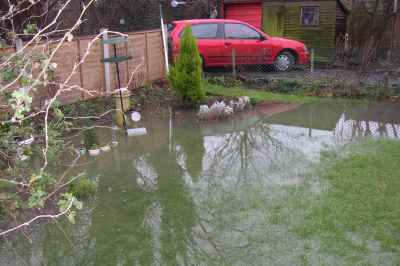 One of the Bromley gardens affected by sewer flooding in 2003