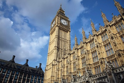 Houses of Parliament, Westminster: Most government departments will have responsibility for sectoral emissions (credit: Purepix/Alamy)