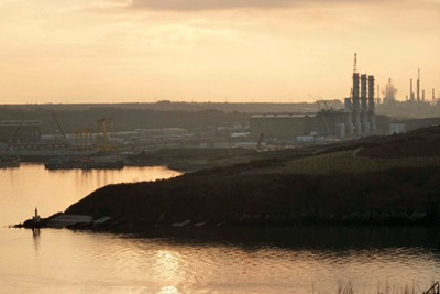 RWE Npower's gas-fired power station under construction at Pembroke (credit: Gareth Simkins)