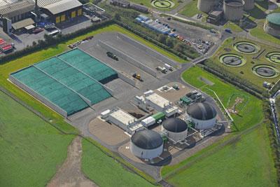 Seven Trent's energy crop AD plant near Nottingham