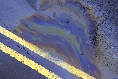 Oil spill on road (credit: Paul Pridsdale Pictures / Alamy)