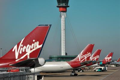 Virgin planes aircraft at terminal (credit: Virgin)