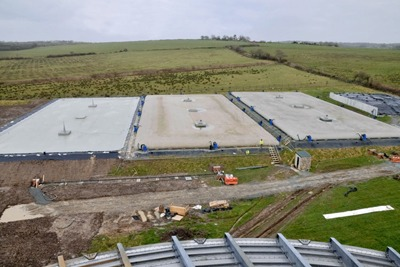 Alligator bags used to store digestate from AnDigestion's anaerobic digestion plant, Holdsworthy, Devon