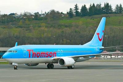 Thomson aircraft on tarmac (credit: Thomson)