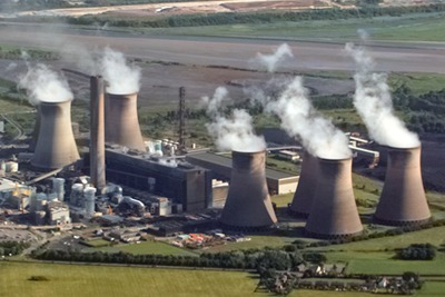 SSE's Fiddlers Ferry coal-fied power station (CC AS 2.0 Alan James)
