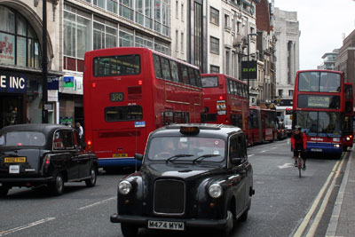 Levels of nitrogen oxides are highest in London