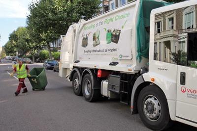 Waste lorry. Credit: Veolia