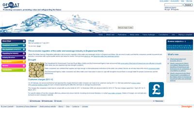 Ofwat homepage