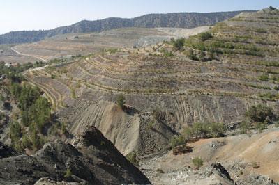 An abandoned asbestos mine in Cyprus. Credit: Joan Edington