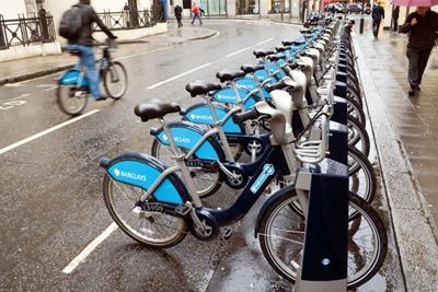 London's Barclays Cycle Hire bikes: six million journeys have been undertaken since it's launch (picture: PC Jones / Alamy)