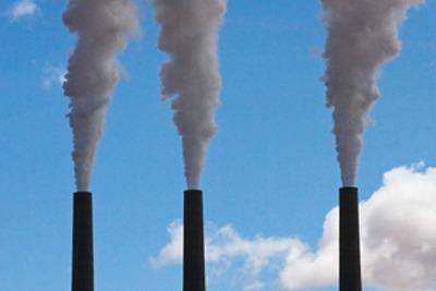 Power plant chimney stacks