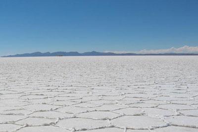 Salt flats in Salar de Uyuni, Bolivia