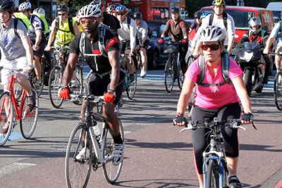 Demonstration towns have encouraged cycling (photo: Friends of the Earth)
