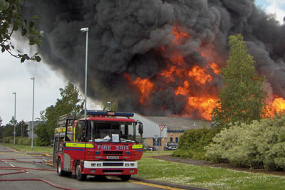 Over 100 firefighters and 25 engines tackled the blaze at Aztec Aerosols' site in Crewe (photo: Health and Safety Executive)