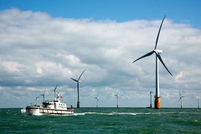 Wind energy was the UK's fastest growing low-carbon and environmental goods and services sector in 2009/10 (photo: Vattenfall)