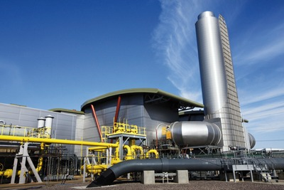 Centrica's combined-cycle gas-fired turbin, Langage, Devon