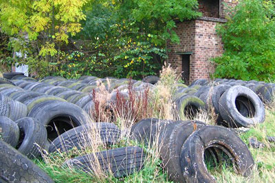 Professor Lund says the results for remanufacturing tyres are questionable (photo: Richard Webb CC-BY-SA-2.0 via Wikimedia Commons)