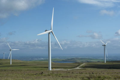 Scout Moor windfarm near Rochard could be expanded to become the first in England over 100MW (photo: Anthony Hatton/Peel Energy)