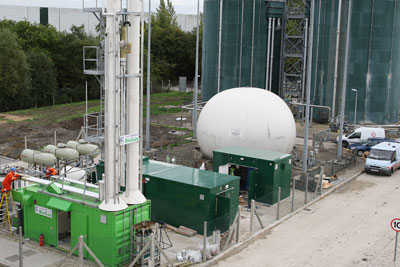 Biogas from the Didcot sewage treatment works is injected into the grid
