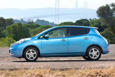 The Nissan Leaf is an example of a pure electric vehicle
