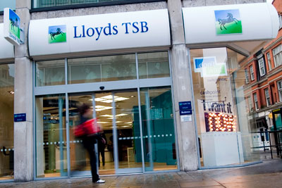 The four leading banks – Lloyds (see picture), Barclays, HSBC and RBS – cite methodological barriers to measuring their financed emissions (photo: Lloyds TSB)