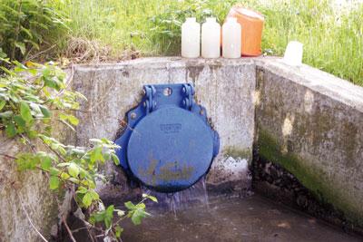 Magheratimpany sewage pumping station was the source of a plume of sewage (photo: DOENI)