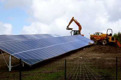 Development of the 1.4MW Wheal Jane Solar Farm in Cornwall (photo: Cornwall Council)