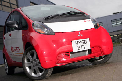 ACEA says there is an urgent need to develop charging infrastructure for electric cars such as the Mitsubishi i-Miev