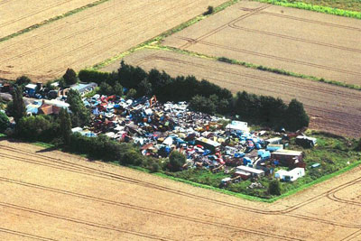 Vehicles were dismantled at the Cophall Farm site near Ely (photo: Environment Agency)