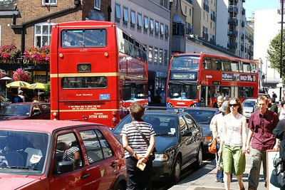 London is one of the car dependent cities in Europe, according to a new study (photo: Hideyuki Kamon CC-BY-SA-2.0 via Wikimedia Commons)