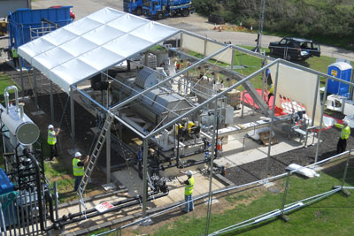 A dryer plant under construction in Slough (photo: Thames Water)