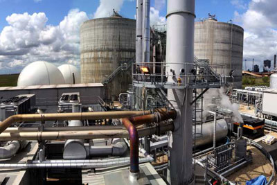 Northumbrian Water would get to report emissions saved by its anaerobic digestion plant at Bran Sands, Teesside, under Ofwat's new regime. But it would not have to report the plant's renewable energy generation (Photo: Northumbrian Water)