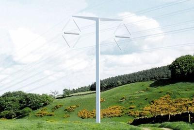 Bystrup's winning high-voltage plyon design, the T-Pylon