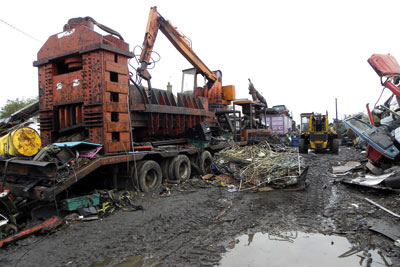 Waste offences occured over several years at the Cophall Farm site near Ely (photo: Environment Agency)