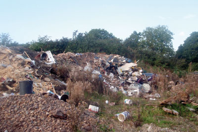 Trago Mills dumped waste illegally (photo: Environment Agency)