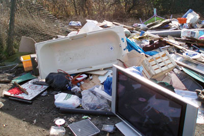 Richards dumped household rubbish in and around Bristol (photo: Environment Agency)